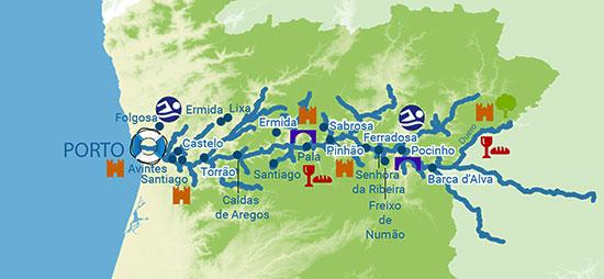 Porto Portugal Karte.Motorboot Charter In Portugal Auf Dem Douro