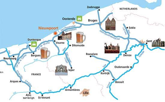 hausboot ferien belgien routenvorschl ge in flandern. Black Bedroom Furniture Sets. Home Design Ideas