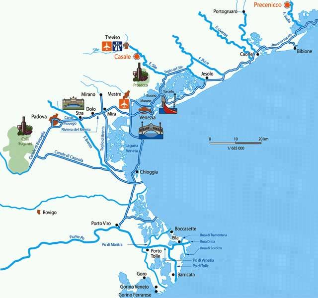 Hausboote Italien Tourenvorschlage In Der Lagune Von Venedig