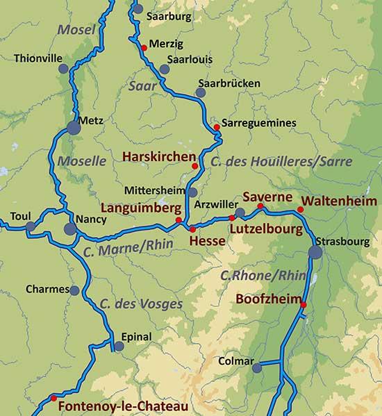 Elsass Karte Frankreich.Hausboot Mieten Im Elsass Bootsferien Im Alsace