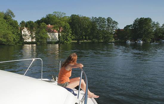 mit dem Hausboot unterwegs auf den Mecklenburger Seen
