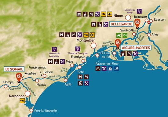 Camargue Karte.Camargue Mit Dem Hausboot