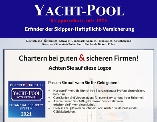 Yacht-Pool Anzeige - Checked and Trusted