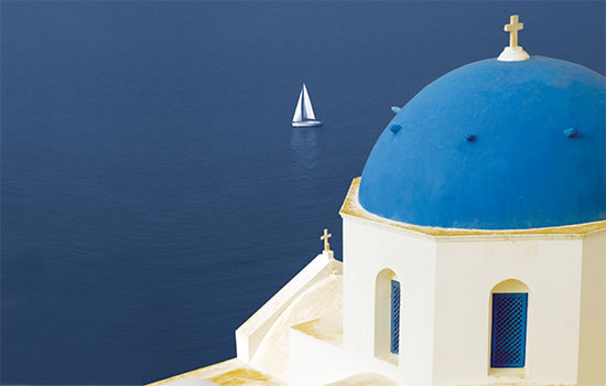 typische Kirche in Griechenland